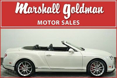 2015 Bentley Continental GT  2015 Bentley Continental GTC V8 S Ghost White Pearl over Beluga only 6,700 miles