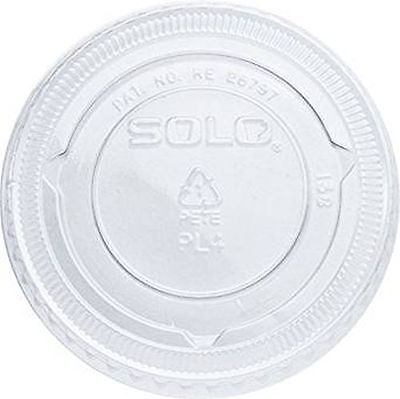 125 x Clear Plastic Souffle Lids For Cold Drink Cups / souffle cups PL4N