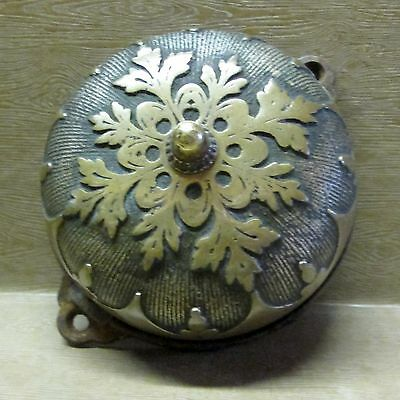 ORNATE BRASS PULL CHAIN BELL dated 1882, Pat'd July 4, 1876
