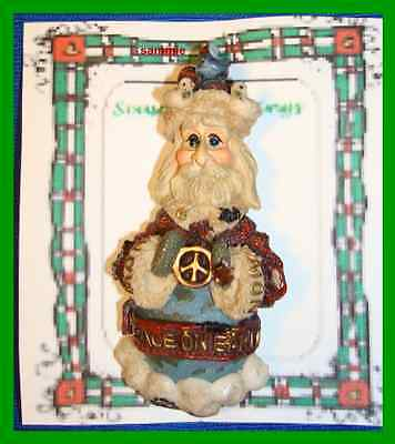 Christmas PIN #0304 Boyds Bear & Friends Father Time Peace on Earth Brooch