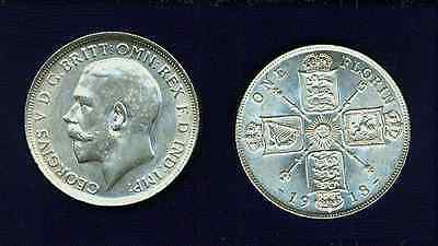 G.b./u.k./england George V  1918   Florin  Silver Coin, Uncirculated