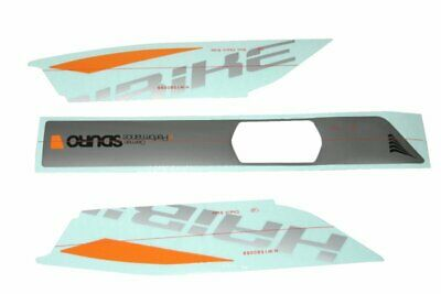 Haibike Decor Yamaha Sduro Frames Battery Grey Orange Sticker Decals