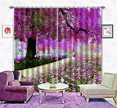 3D Tree Florals Blockout Photo Curtain Printing Curtains Drapes Fabric Window CA