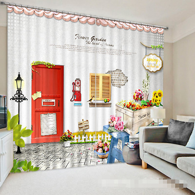 3D Cute House 4 Blockout Photo Curtain Printing Curtains Drapes Fabric Window CA