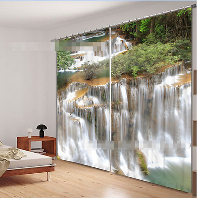 3D Waterfall 85 Blockout Photo Curtain Printing Curtains Drapes Fabric Window CA