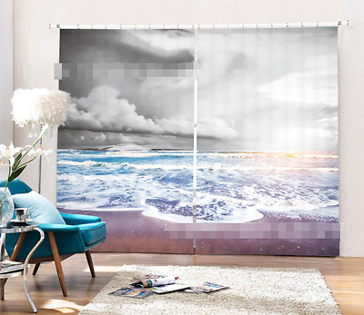 3D Cloudy Sea 5 Blockout Photo Curtain Printing Curtains Drapes Fabric Window CA