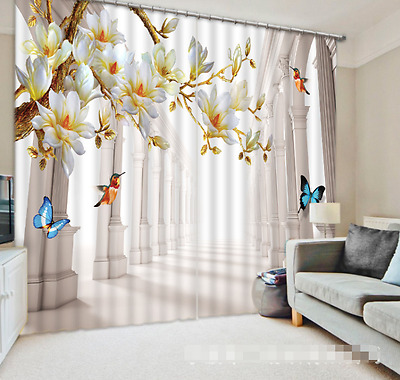 3D Corridor 200 Blockout Photo Curtain Printing Curtains Drapes Fabric Window CA
