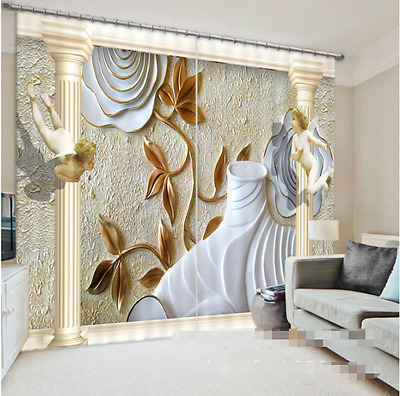 3D Cute Angels Blockout Photo Curtain Printing Curtains Drapes Fabric Window CA
