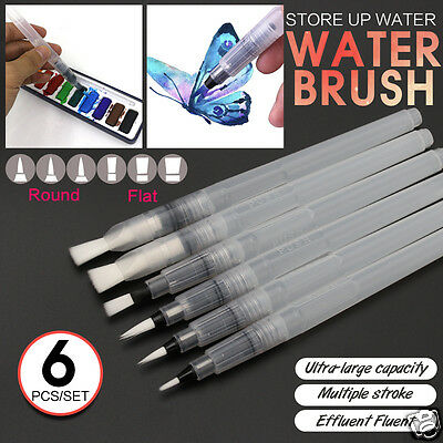 6pcs Ink Pen For Watercolor Water Brush Pen Calligraphy Painting Tool Set