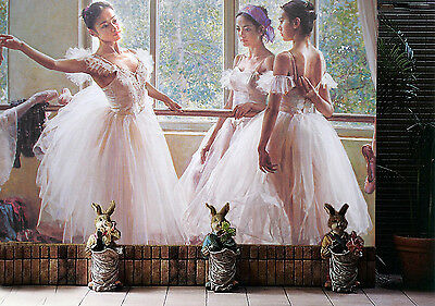 3D Elegant Ballet Girls Picture 4 Wall Paper Wall Print Decal Wall AJ Wall Paper