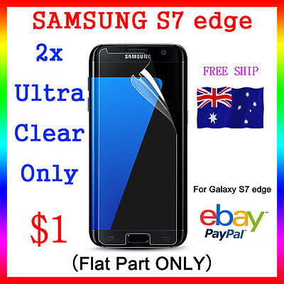 2x LCD HQ Ultra Clear Screen Film Display Protector Samsung Galaxy S7 Edge 5.5""