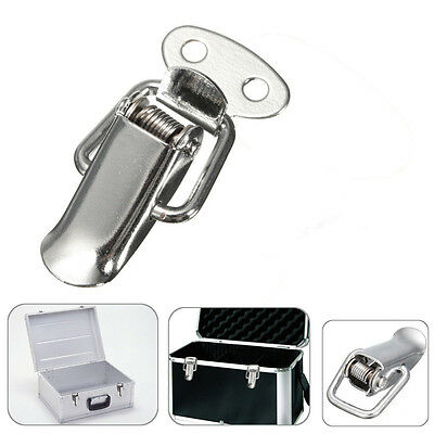 Stainless Steel Cabinet Small Box Chest Loaded Spring Lock Catch Hasp Toggle