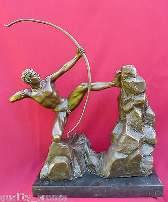 LARGE HOT CAST HERCULES THE ARCHER Bourdelle, BRONZE STATUE FIGURINE FIGURE