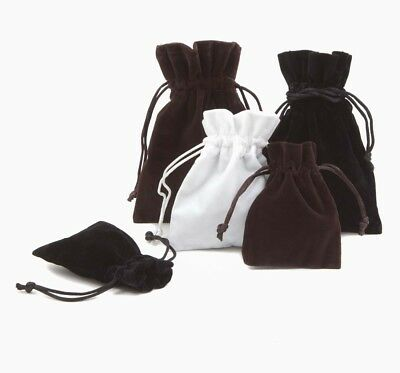 THICK & SOFT Luxury Velvet Jewellery Gift Pouches Gift Bags Drawstring Pouch