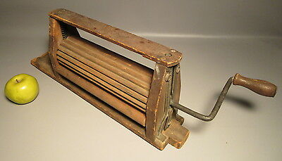 1871 Antique Wood Clothes Wringer For Doing Laundry w/Metal Hand Crank