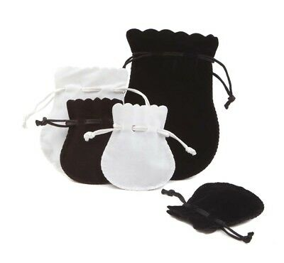 Thick & Soft Luxury Oval Velvet Jewellery Gift Pouches with Drawstring