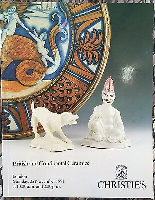 CHRISTIES Auction Catalog 11/25/1991 British and Continental Ceramics - London