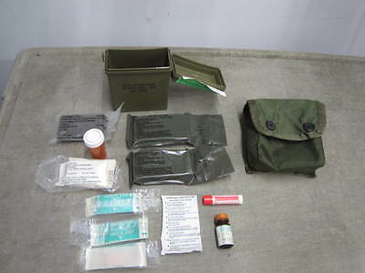 US military First Aid Kit  IFAK Case, Pouch, Contents Elwyn Bandages  NOS  *