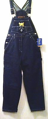 New Pooh Denim Overall Bib Blue Jean Girl Size Large Carpenter Summer Camp Pants