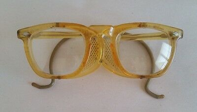 Vintage Steampunk Yellow US Safety Glasses