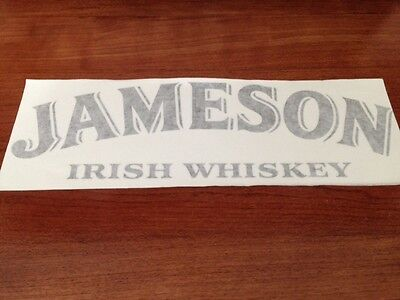 Jameson Irish Whiskey - Vinyl Sticker - In Black - New