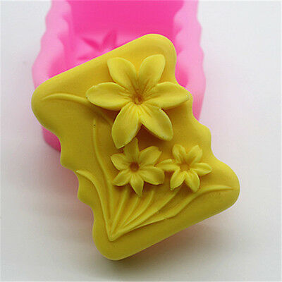 Little Flowers-3 Silicone Cake Mould Fondant Sugar Soap Chocolate Decorate Tool