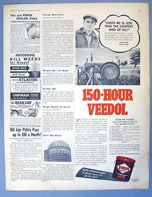 Original 1940 Veedol Oil Ad Photo Endorsed Edgar Dolder of Sheridan Illinois