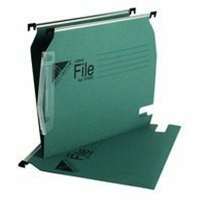 Pk 25 Quality Initiative Lateral Suspension File Green 15mm Ref SF9483