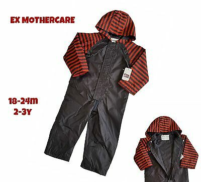 Boys Overall Waterproof Rain Suit All In One Coverall Boilersuit Snowsuit Baby