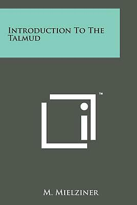 Introduction to the Talmud by M. Mielziner (English) Paperback Book Free Shippin