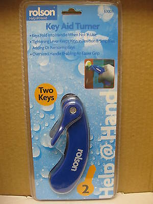 2 Key Aid Turner Door Opening Elderly Aid Mobility Easy Grip Keys Fold Removing