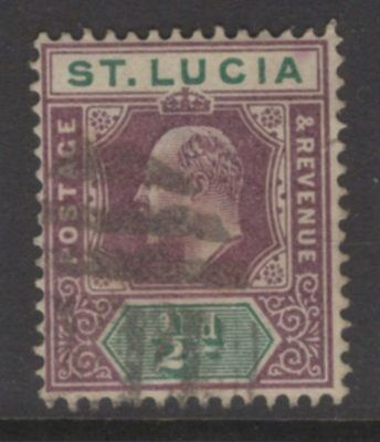 ST.LUCIA SG58 1902 ½d DULL PURPLE & GREEN USED