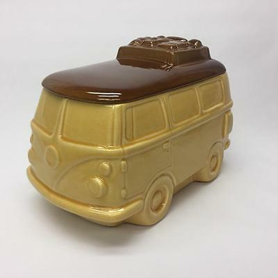 Volkswagen VW Camper Van Bus Ceramic Cookie Jar J.L. Lisa Original Box 1988 USA