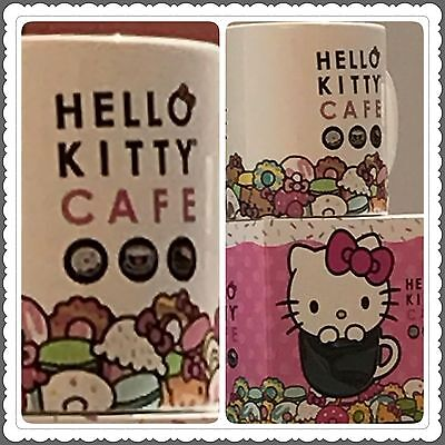 Hello Kitty Cafe Exclusive Pop-Up Store Coffee Cup Mug with box NEW