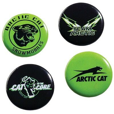 Arctic Cat Black & Lime Green 1-inch Pin Buttons - Set of 4 - 5263-012
