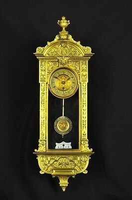 Stunning German Antique Miniature Wall Clock 8 Day Movement approx.1880