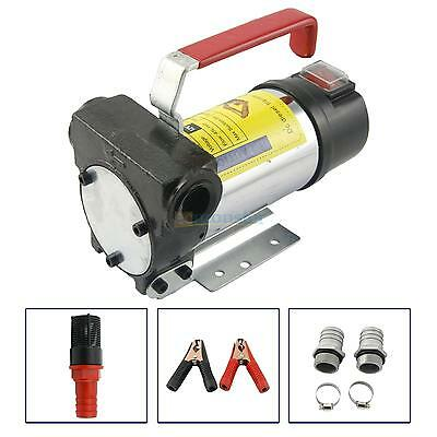 12V 175W 11GPM Fuel Oil Fuel Transfer Pump 3.5kg Kit Diesel Kerosene Portable