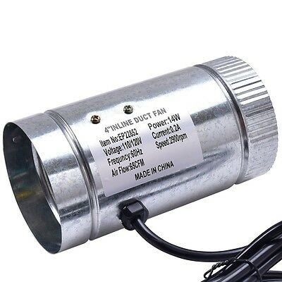 """4"""" 6"""" 8"""" Summer Inline Duct Booster Fan Blower Exhaust Ducting Cooling Vent Tool"""