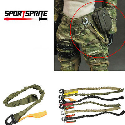 Tactical One 1 Single Point Bungee Rifle Gun Sling Safety Lanyard Quick Release