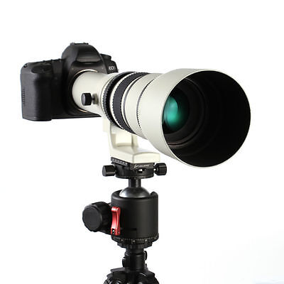 500mm f/6.3-f32 Super Telephoto Lens For Canon Nikon Sony Pentax+T Mount Adapter