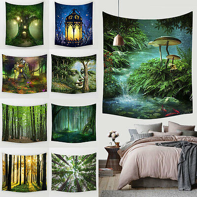 Fairy Forest Hanging Wall Tapestry Bohemian Hippie Throw Bedspread Home Decor