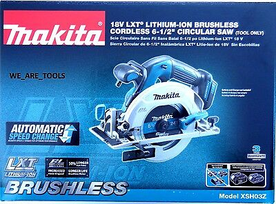"New Makita XSH03Z Cordless Brushless 6 1/2"" Circular Saw 18 Volt W Blade 18V LXT"