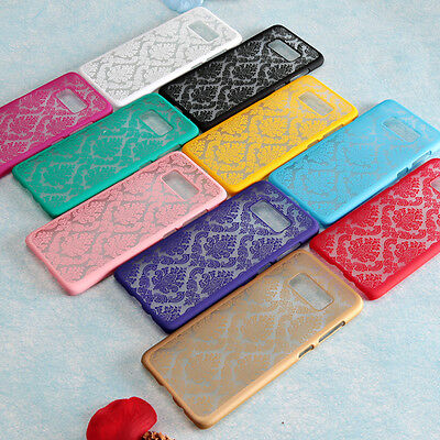 Rubberized Damask Vintage PC Matte Hard Case Cover For Samsung Galaxy S8 S8 Plus