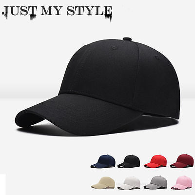 Men Women's Sports Baseball Cap Blank Plain Solid Snapback Golf ball Hip-Hop Hat