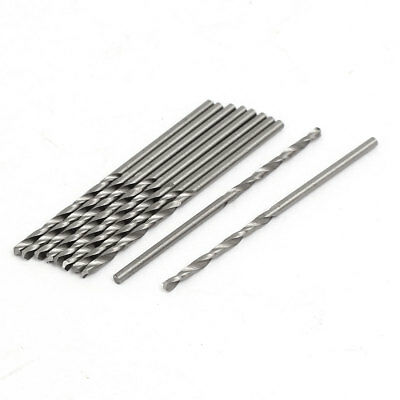 1.75mm Dia 50mm Length HSS Straight Shank Twist Drill Bit Drilling Tool 10pcs