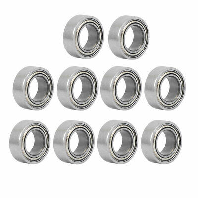 MR74ZZ 4mmx7mmx2.5mm Double Shielded Deep Groove Radial Ball Bearing 10pcs