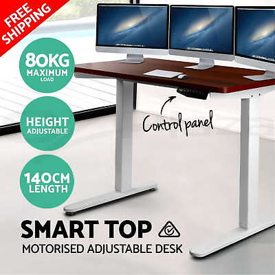 Height Adjustable Standing Desk Sit Stand Desk Motorised Electric Table Office