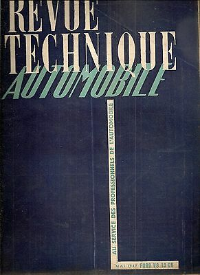 Revue Technique Automobile 37 Rta 1949 Etude Ford V8 Berliet 7T