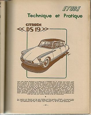 Revue Technique Automobile 133 Rta 1957 Citroen Ds19 Ds 19 (1/3) L'hydraulique