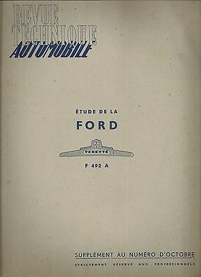 Revue Technique Automobile 49 Bis 1949 Etude De La Ford Vedette